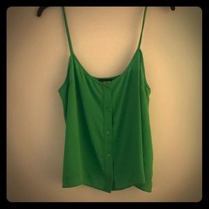 TOPSHOP Green Tank Top Size 8 (Small/Med)
